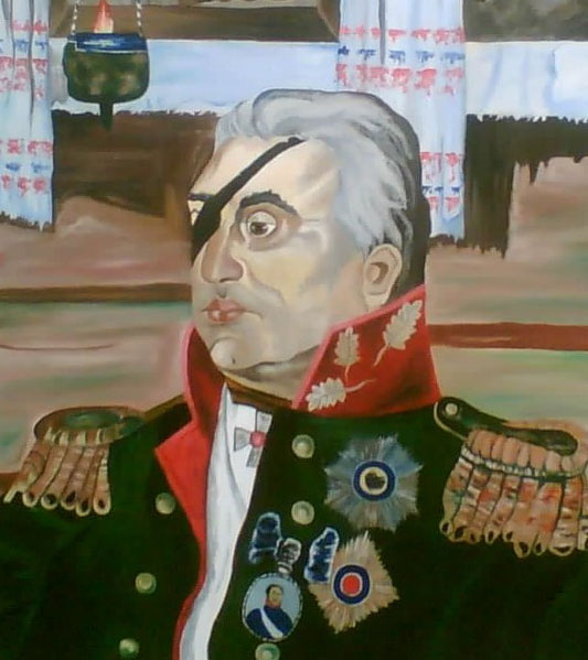 Копия Е.Слепченко с картины В.М.Сибирского «М.И.Кутузов»